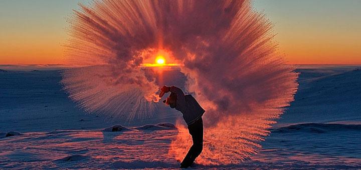 чай на 40-градусном морозе