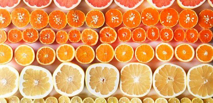 цветные градиенты еды